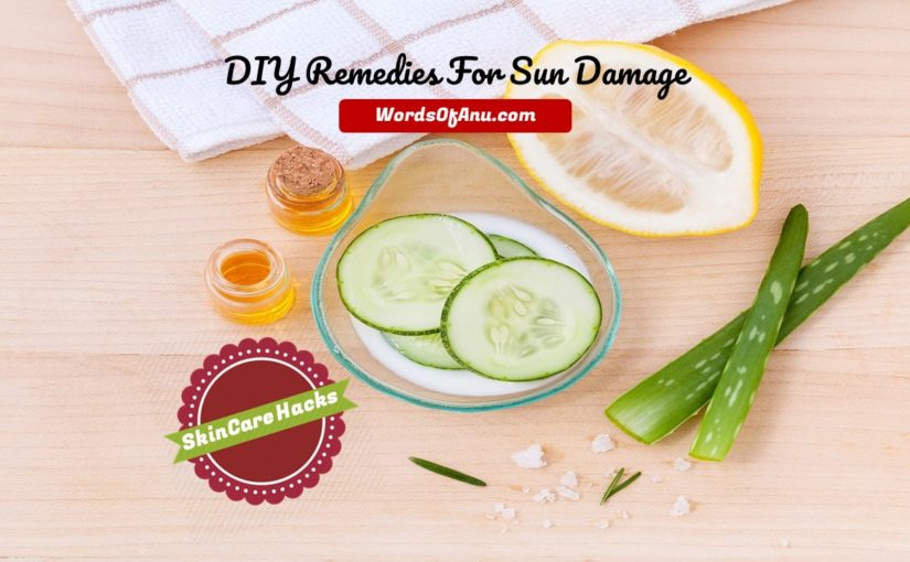 Easy DIY Remedies For Sun Damage : Instant Skin Soothing Treatment